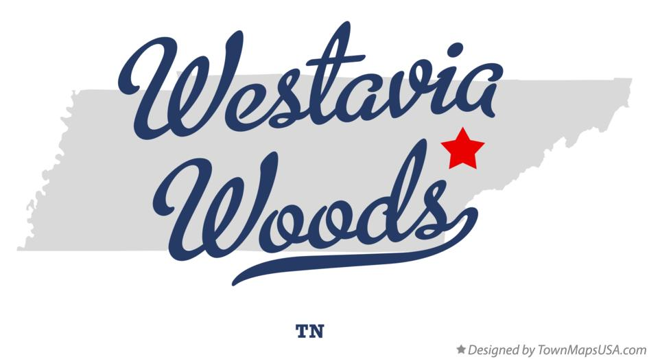 Map of Westavia Woods Tennessee TN