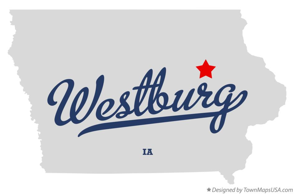 Map of Westburg Iowa IA