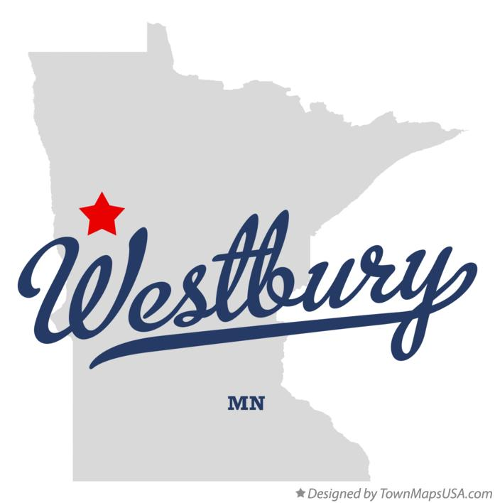 Map of Westbury Minnesota MN