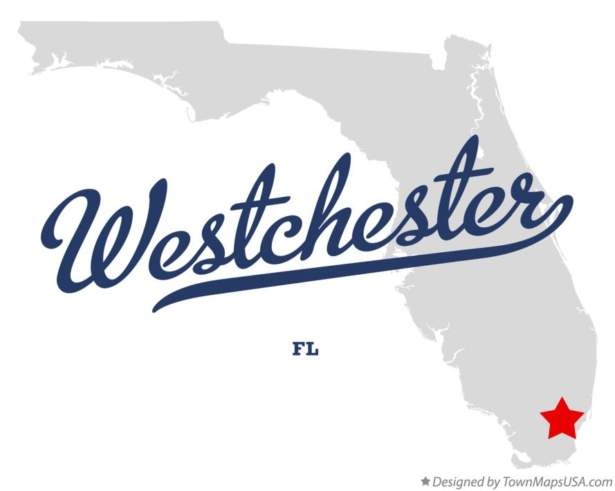 Map of Westchester Florida FL