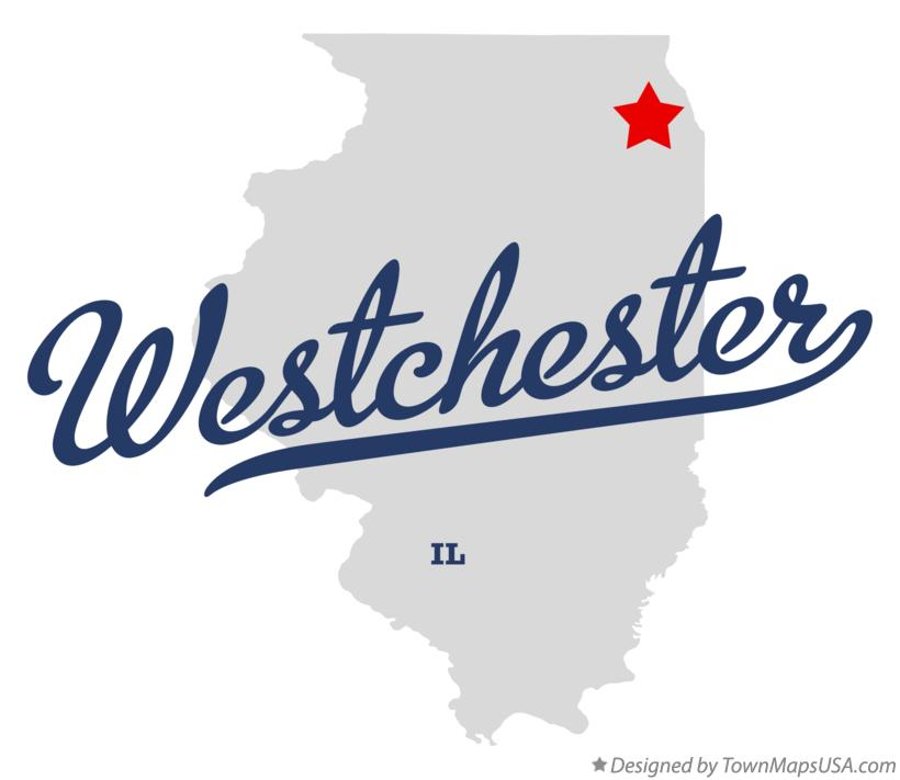 Map of Westchester Illinois IL