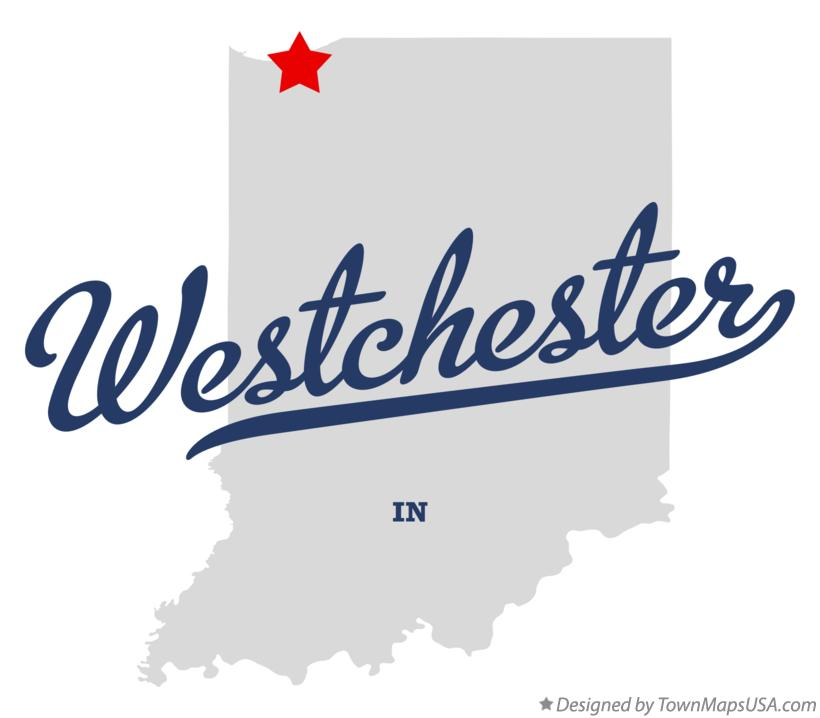 Map of Westchester Indiana IN