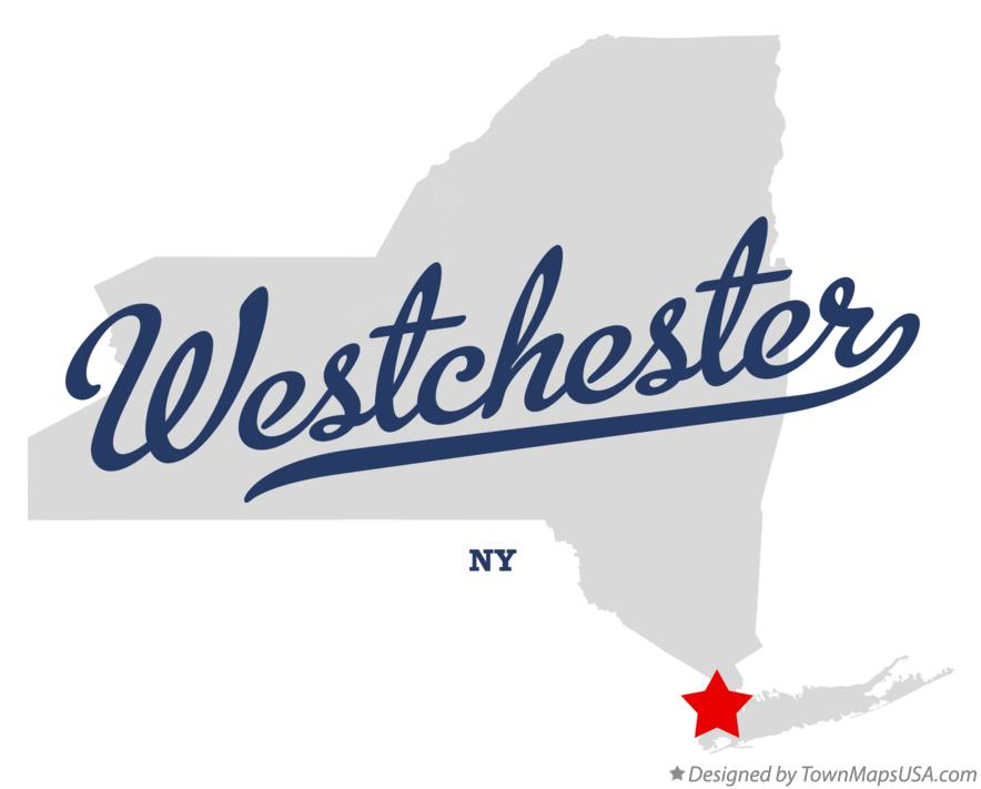 Map of Westchester New York NY