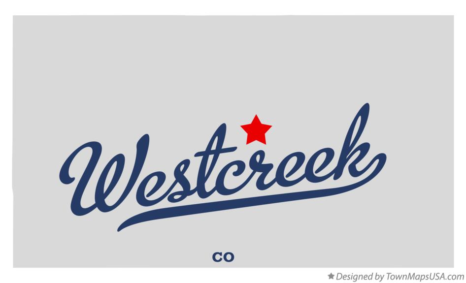 Map of Westcreek Colorado CO