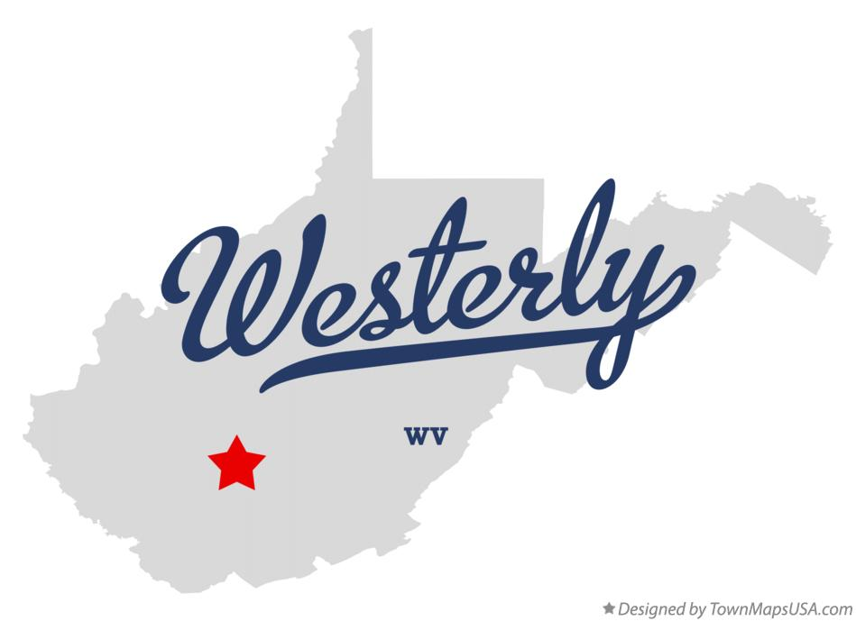 Map of Westerly West Virginia WV