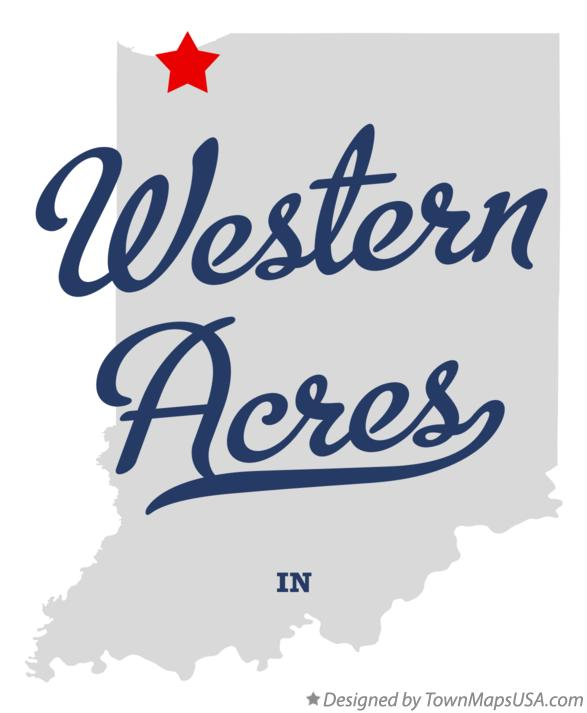 Map of Western Acres Indiana IN