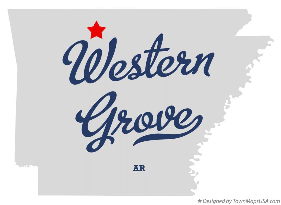 Map of Western Grove Arkansas AR