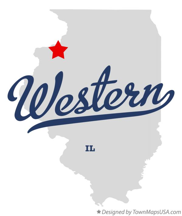 Map of Western Illinois IL