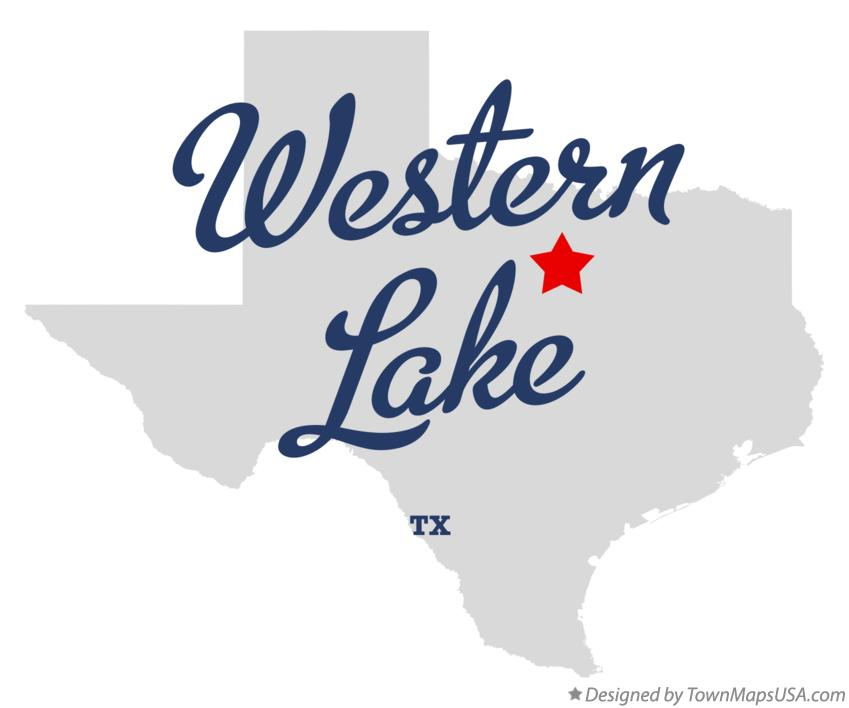 Map of Western Lake Texas TX