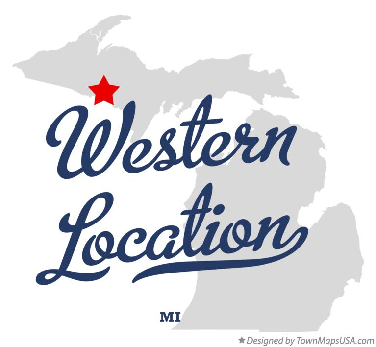 Map of Western Location Michigan MI