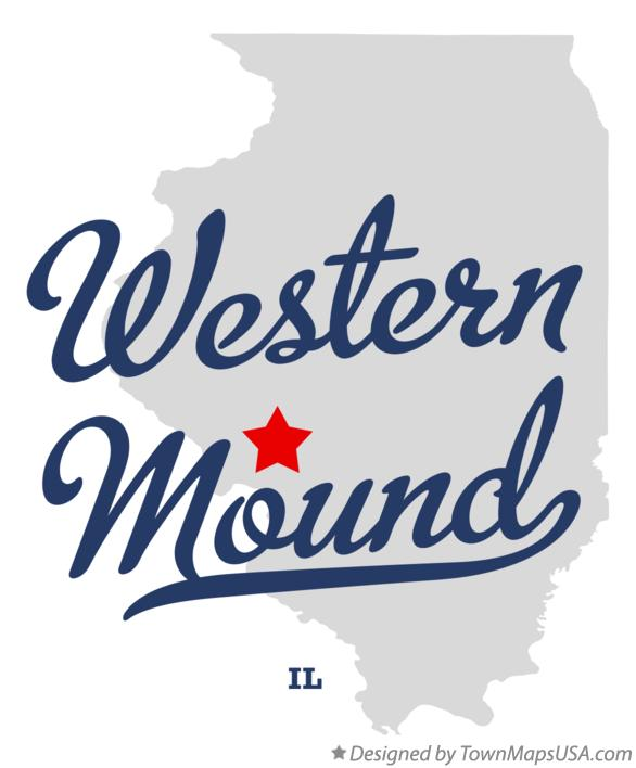 Map of Western Mound Illinois IL