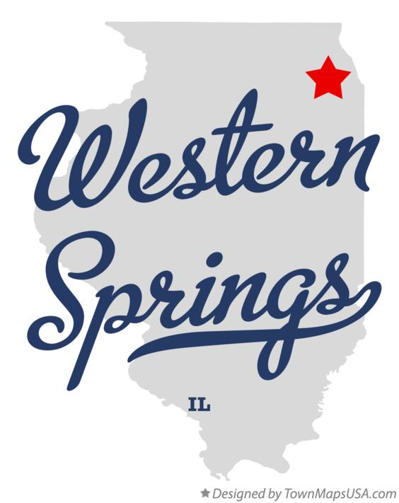 Map of Western Springs Illinois IL