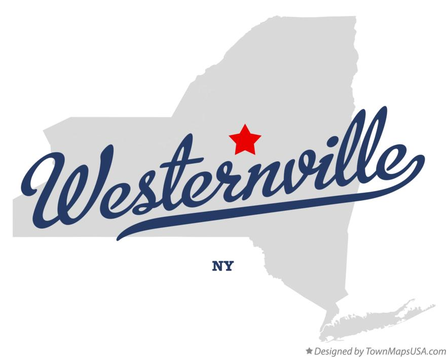 Map of Westernville New York NY
