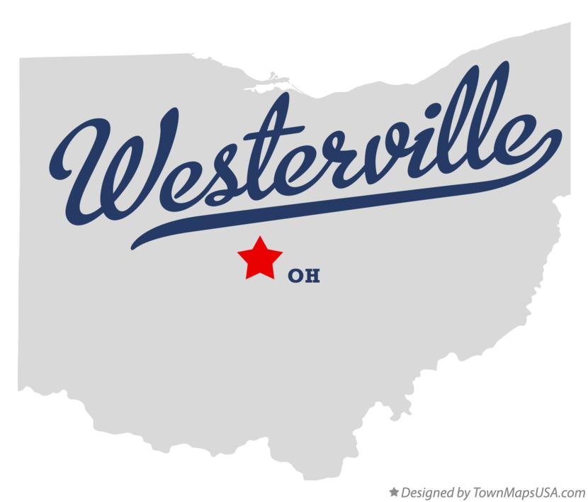 Map of Westerville Ohio OH