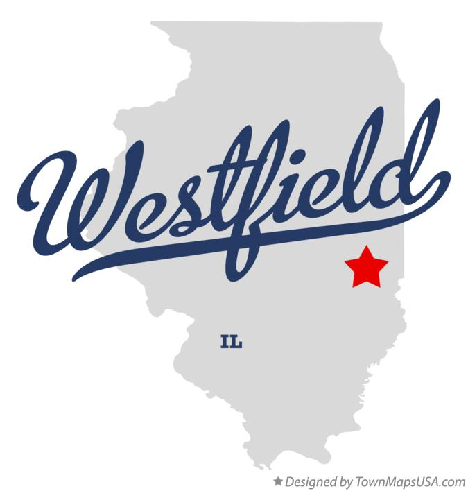 Map of Westfield Illinois IL