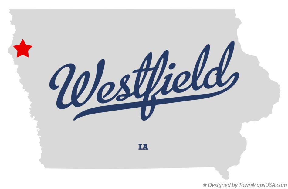 Map of Westfield Iowa IA