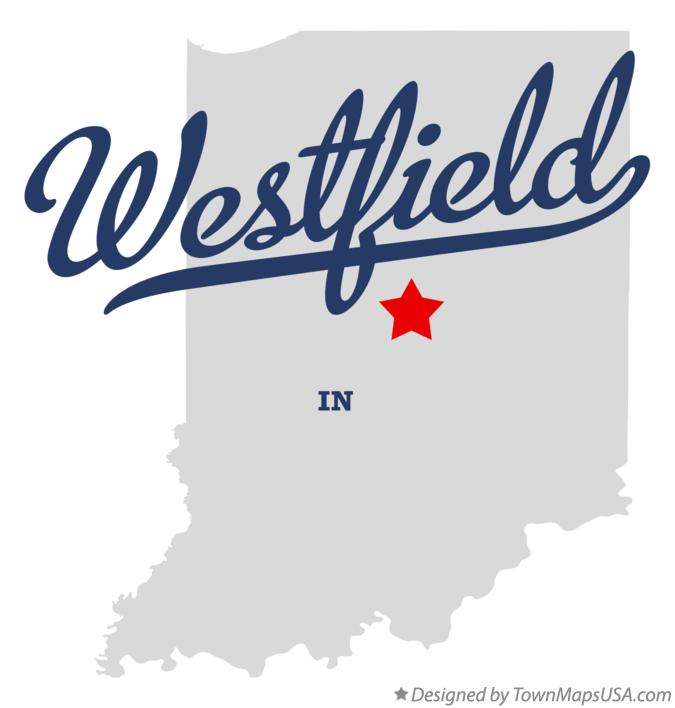 Map of Westfield, Hamilton County, IN, Indiana