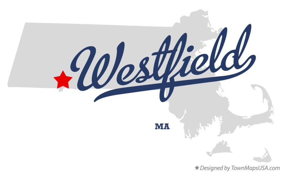 Map of Westfield Massachusetts MA