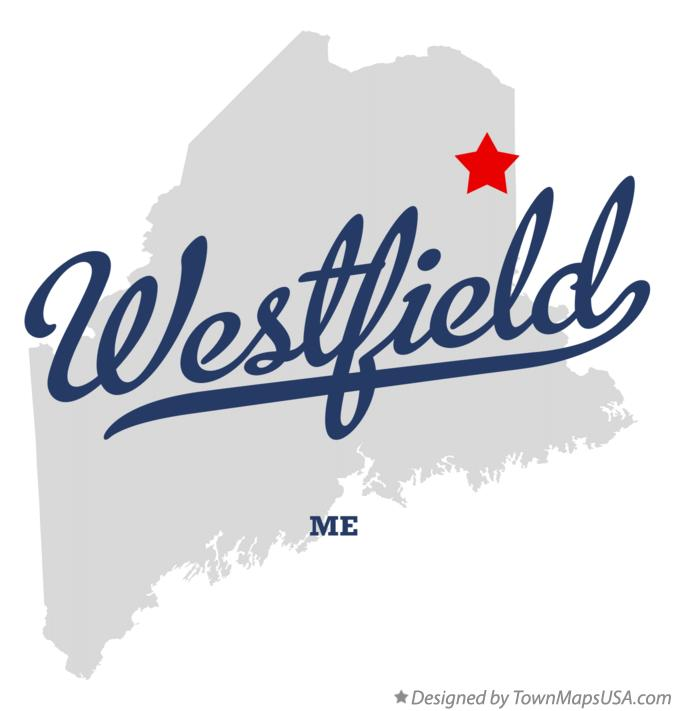 Map of Westfield Maine ME