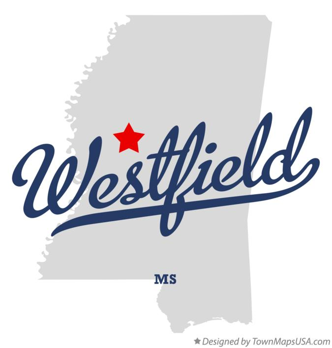 Map of Westfield Mississippi MS