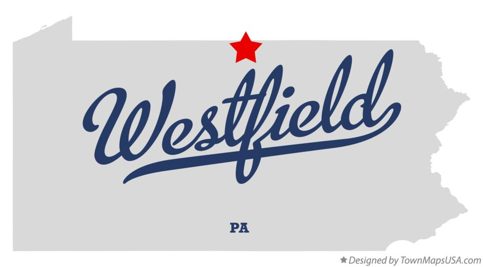 Map of Westfield Pennsylvania PA