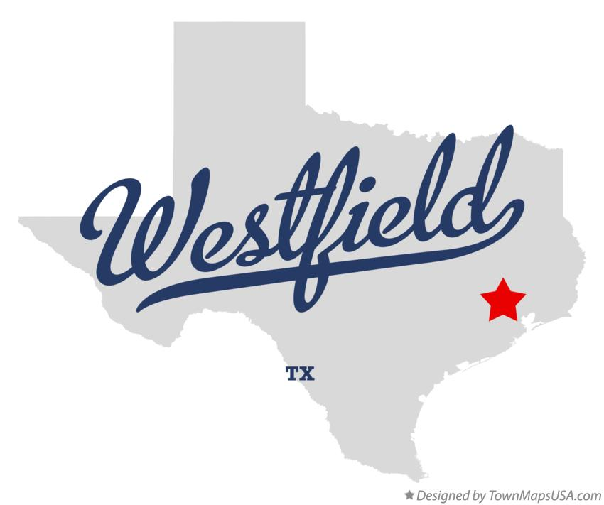 Map of Westfield Texas TX