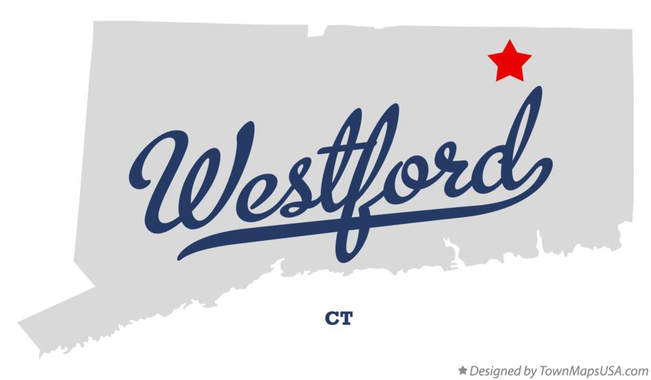 Map of Westford Connecticut CT