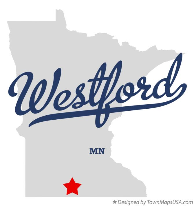 Map of Westford Minnesota MN