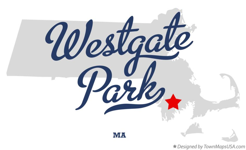 Map of Westgate Park Massachusetts MA