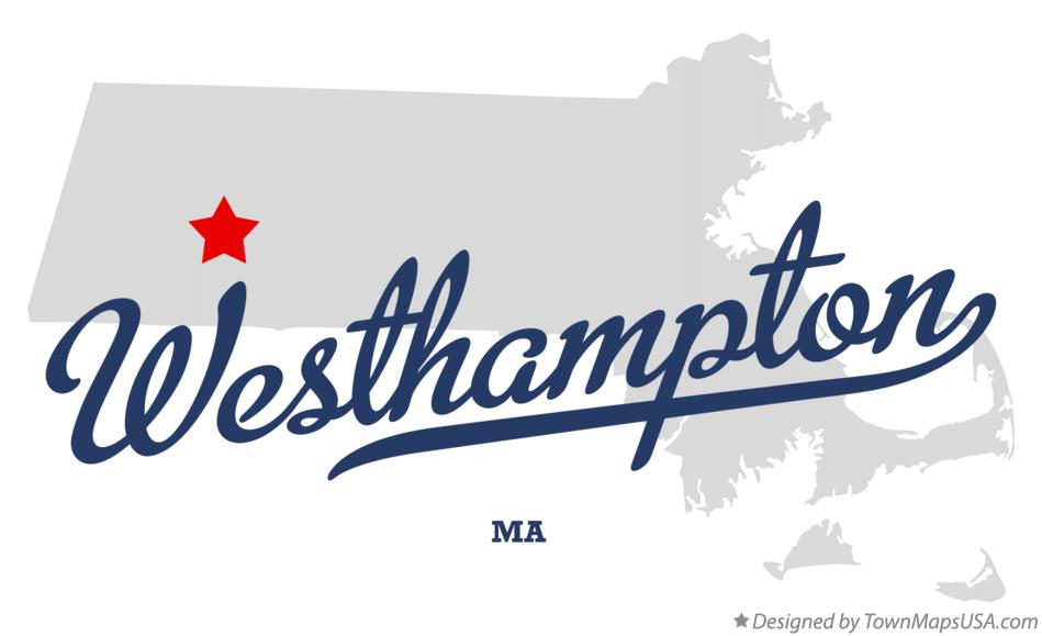Map of Westhampton Massachusetts MA