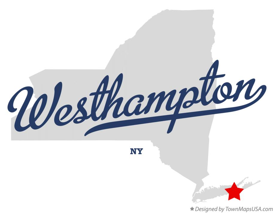 Map of Westhampton New York NY