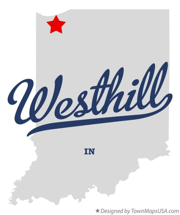 Map of Westhill Indiana IN