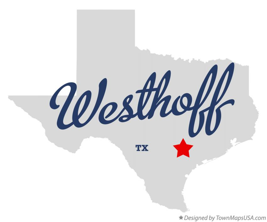 Map of Westhoff Texas TX
