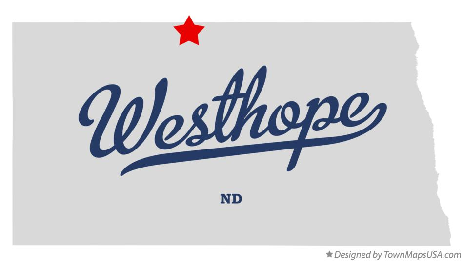 Map of Westhope North Dakota ND