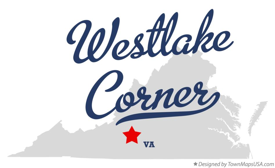 Map of Westlake Corner Virginia VA