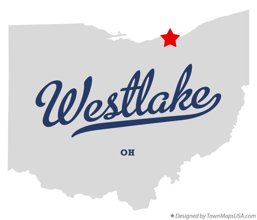 Map of Westlake, OH, Ohio