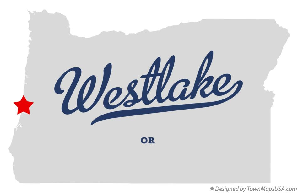 Map of Westlake Oregon OR