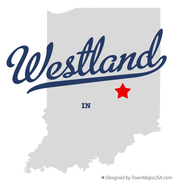 Map of Westland Indiana IN