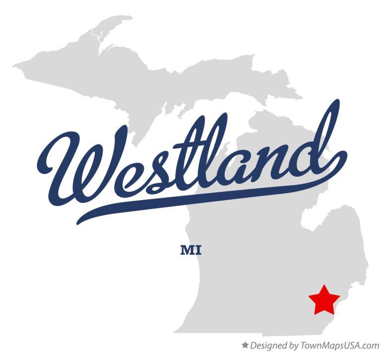 Map of Westland, MI, Michigan