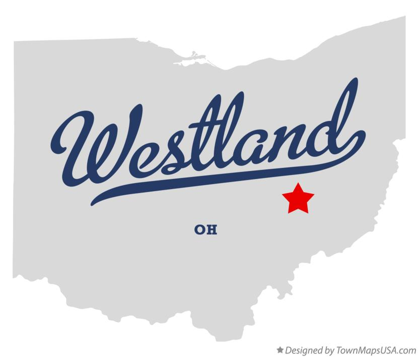 Map of Westland Ohio OH