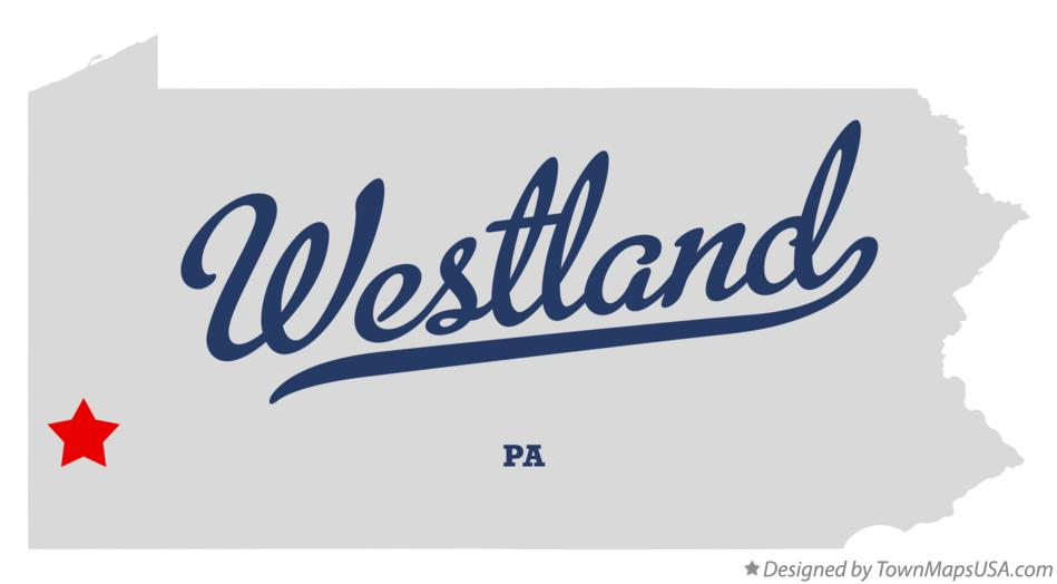 Map of Westland Pennsylvania PA