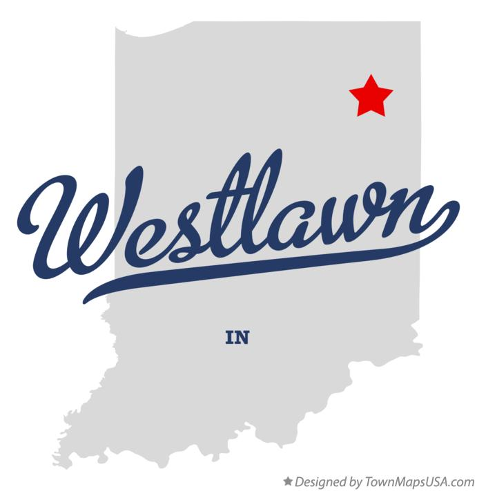 Map of Westlawn Indiana IN