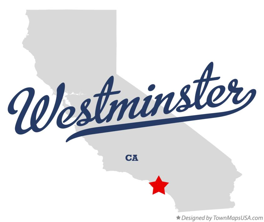 Map of Westminster California CA