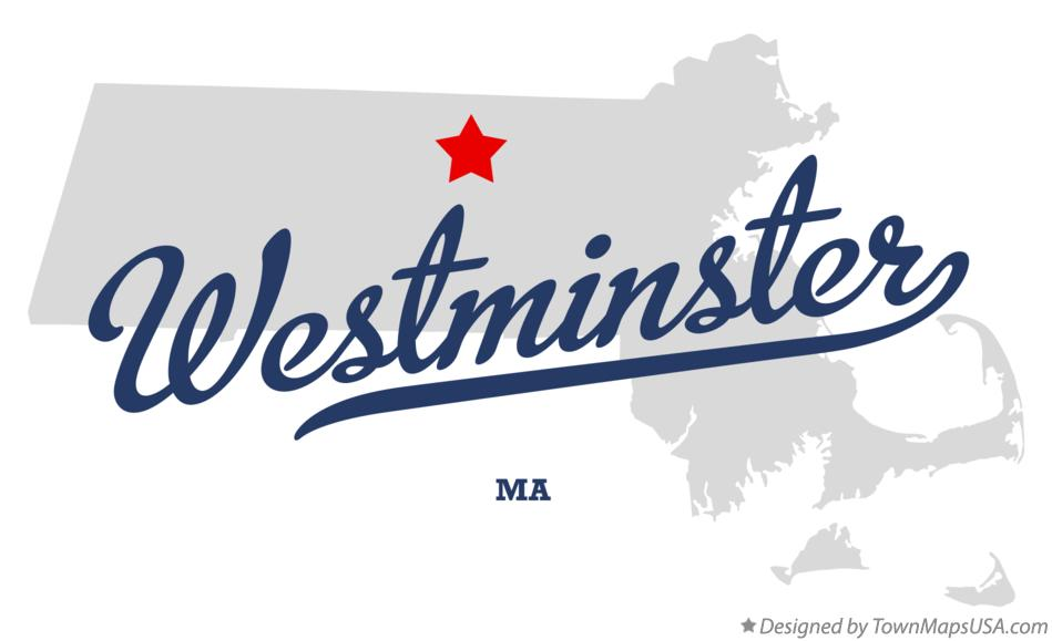 Map of Westminster Massachusetts MA