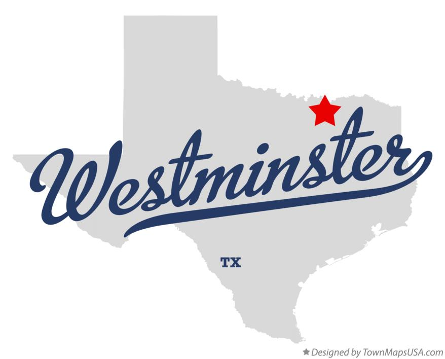 Map of Westminster Texas TX