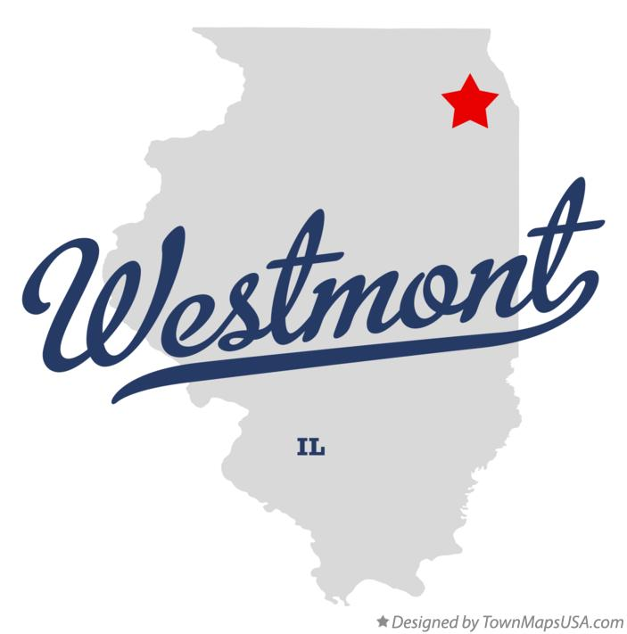 Map of Westmont Illinois IL