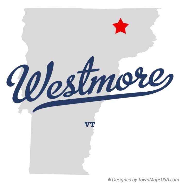 Map of Westmore Vermont VT