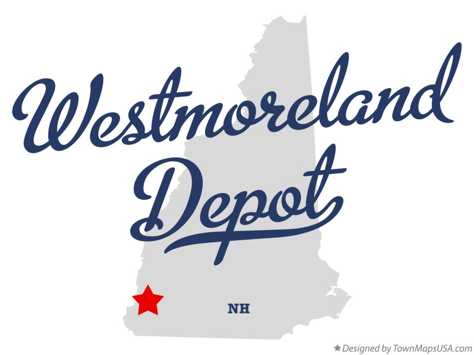 Map of Westmoreland Depot New Hampshire NH