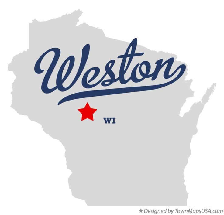 Map of Weston Wisconsin WI