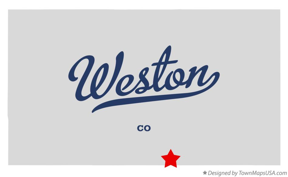 Map of Weston Colorado CO